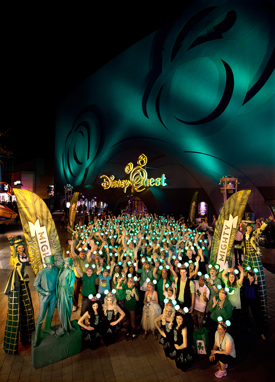 Downtown disney turns green for st patrick s day at walt - Disney st patricks day images ...