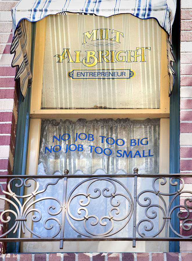 (April 11, 2013)  Main Street Windows(Paul Hiffmeyer/Disneyland Resort)