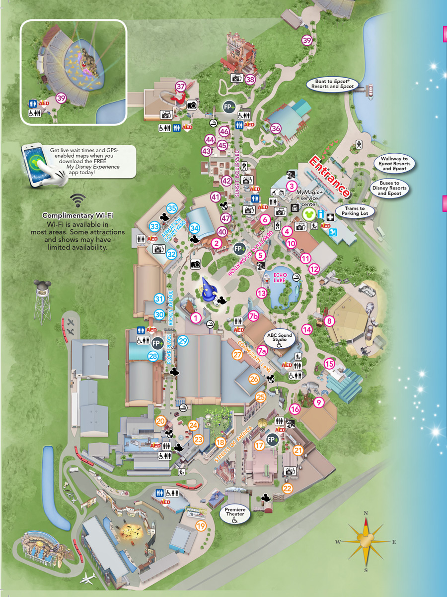 A Hollywood Classic The Studios First Guide Map Disney Parks Blog