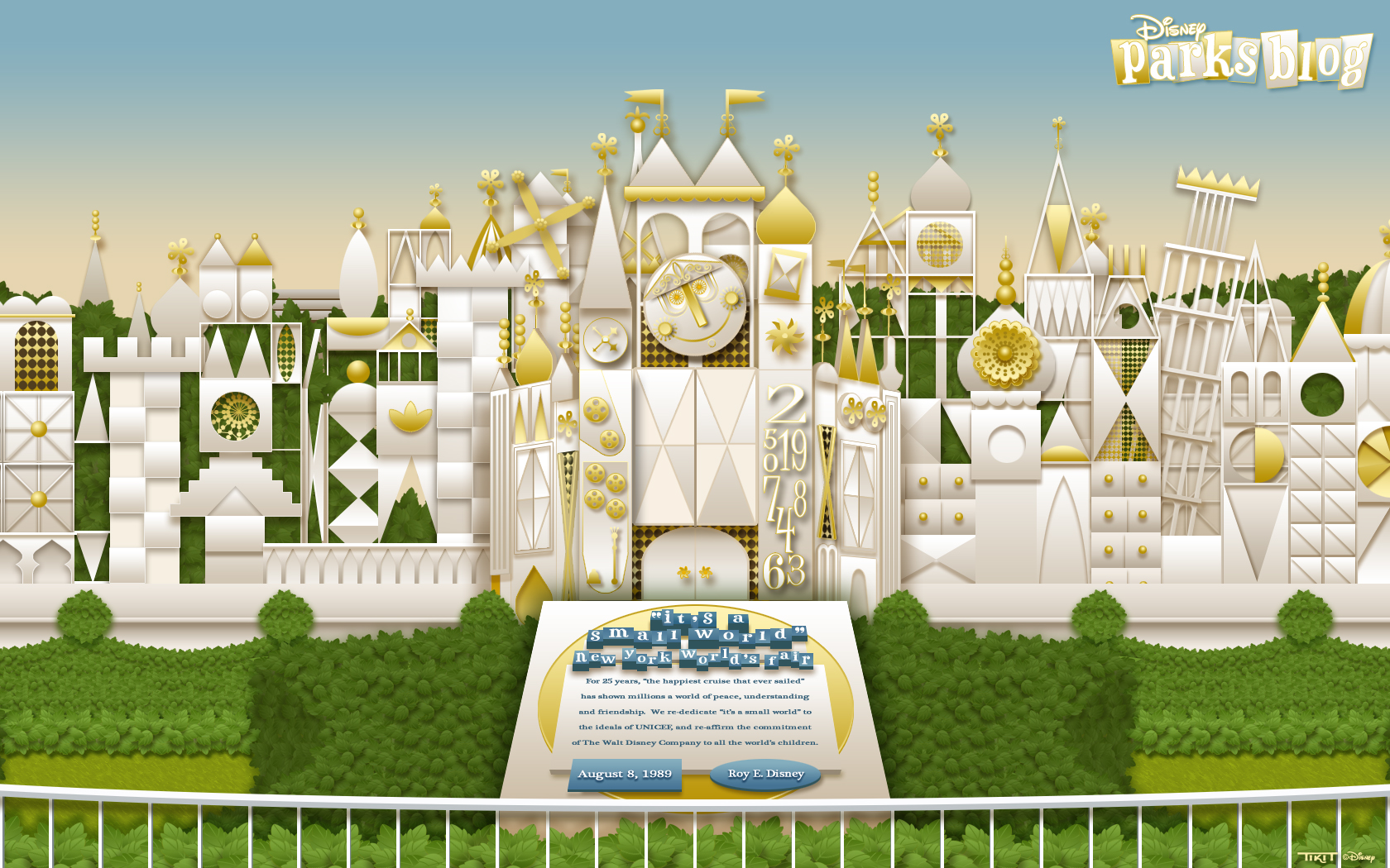 'it's a small world' Wallpaper