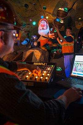 Imagineers Bring First Full 3D Audio-Animatronics to Life at Seven Dwarfs Mine Train