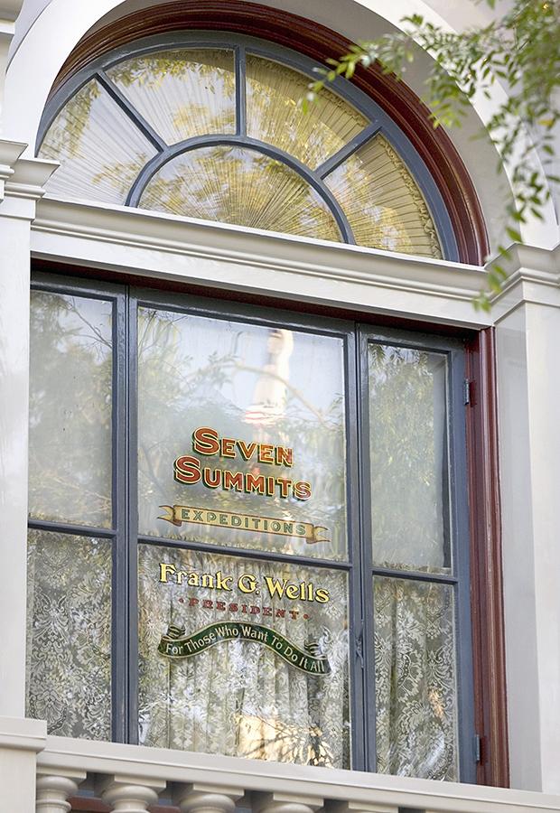 Frank G Wells window on Main Street