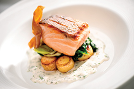 A Look at Disney Cruise Line's Taste of Alaska Menu: Honey Mustard Salmon