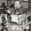 Walt Disney Reading a Golden Book