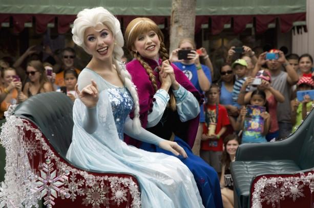 Inaugural 'Anna & Elsa's Royal Welcome' Parades Through Disney's Hollywood Studios