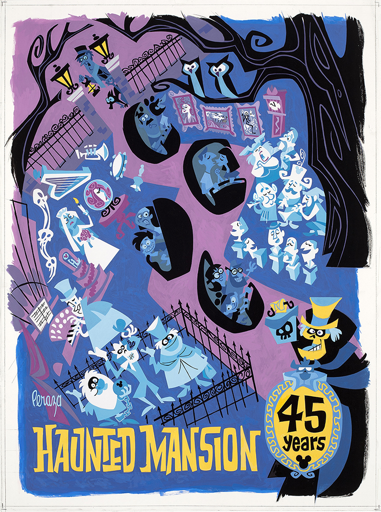 Mansion Drawing: The Art Of Haunted Mansion 45th Anniversary Collectibles