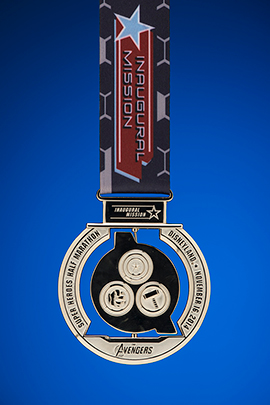 The Avengers Super Heroes Half Marathon Inaugural Mission Finisher Medal Back
