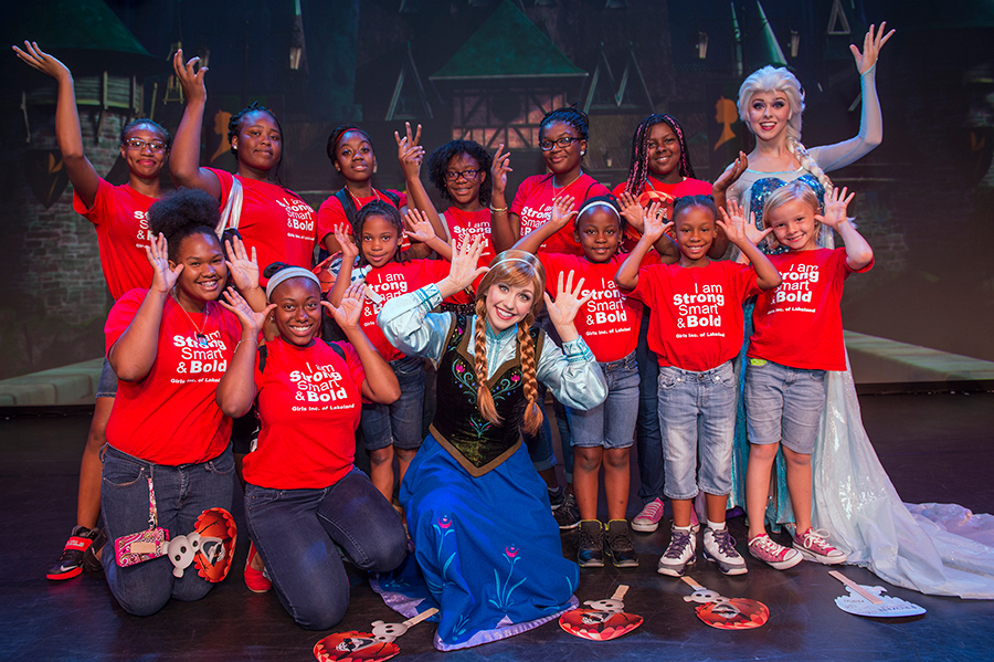 Disney's Hollywood Studios Welcomes Girls, Inc. for 'Frozen' Fun on National Sisters Day