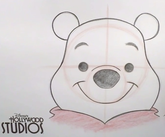 Learn to Draw Winnie The Pooh at Disneys Hollywood Studios