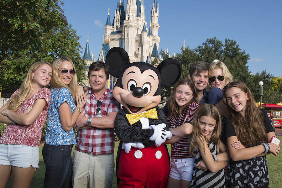 Michael J. Fox, George Stephanopoulos, Tracy Pollan, Alexandra Wentworth at Disney World in Florida