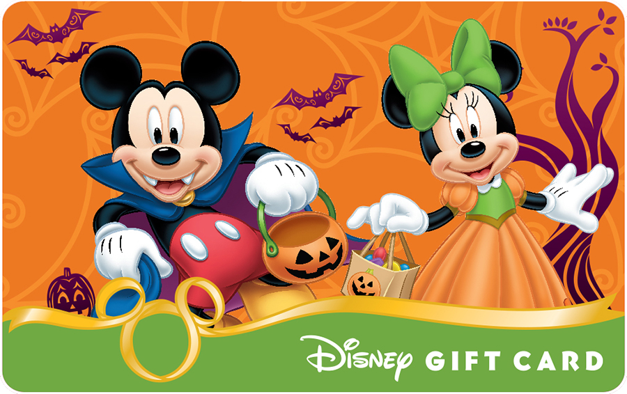 Celebrate Halloween with New Disney Gift Card Designs | Disney ...