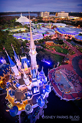 Birds Eye View Of Cinderella Castle