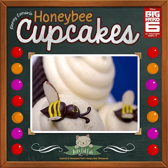 Honey Lemon's Honeybee Cupcakes Inspired by Hungry Bear Restaurant at Disneyland Park