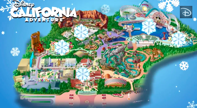 mapping out the holidays disney california adventure park
