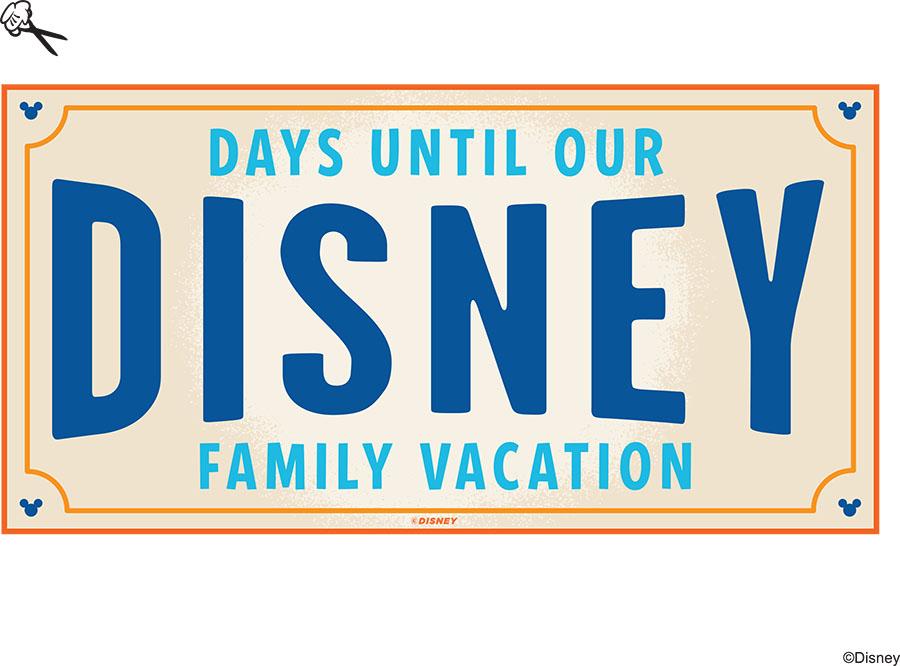 DIY: Create-Your-Own Walt Disney World Vacation Countdown | Disney ...