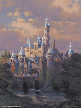 Sleeping Beauty Castle in Disneyland Park Will Receive a Diamond Medallion Featuring the Letter 'D' for the Disneyland Resort Diamond Celebration