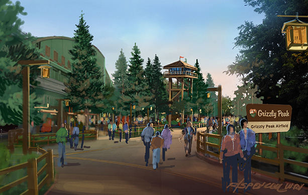 Grizzly Peak Airfield at Disney California Adventure Park, Courtesy of Walt Disney Imagineering