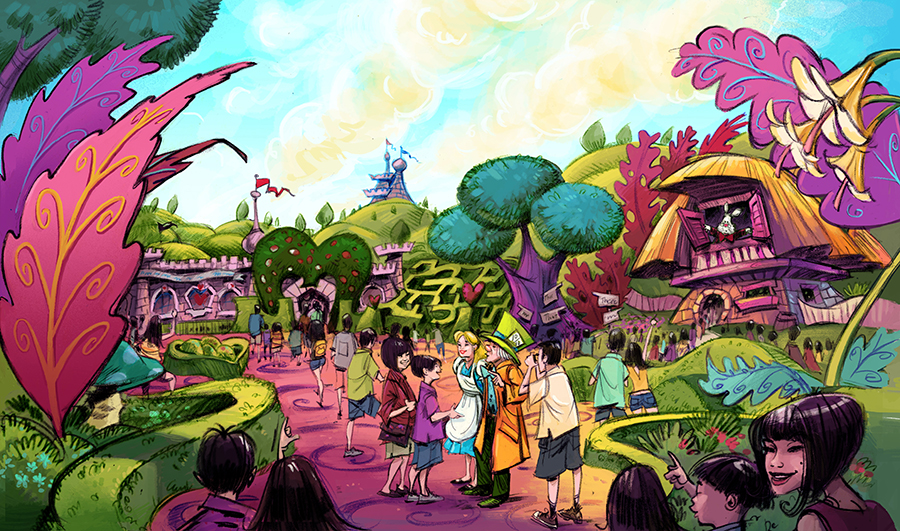 New themes announced for tokyo disney resort development disney alice in wonderland themed area coming to fantasyland at tokyo disneyland park sciox Image collections
