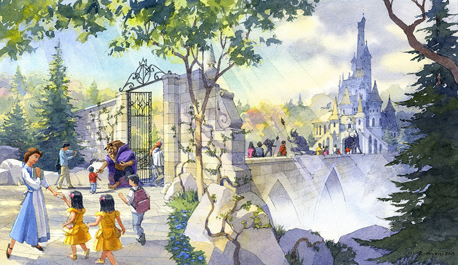 New themes announced for tokyo disney resort development disney beauty and the beast themed area coming to fantasyland at tokyo disneyland park sciox Image collections