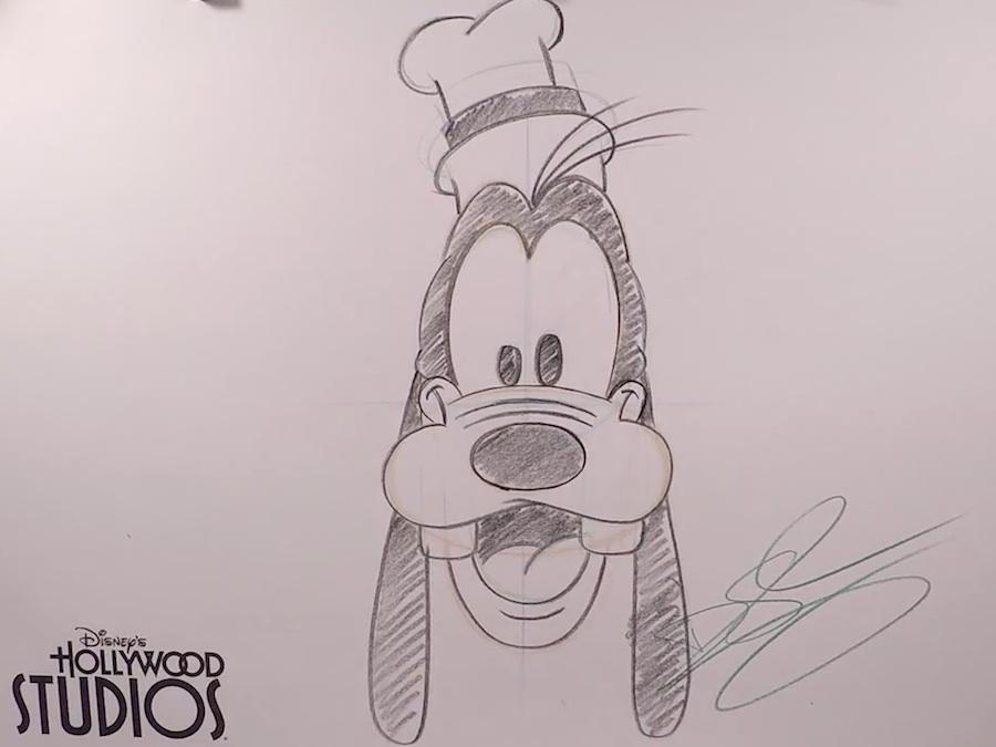 learn to draw mickey s pal goofy at disney s hollywood studios