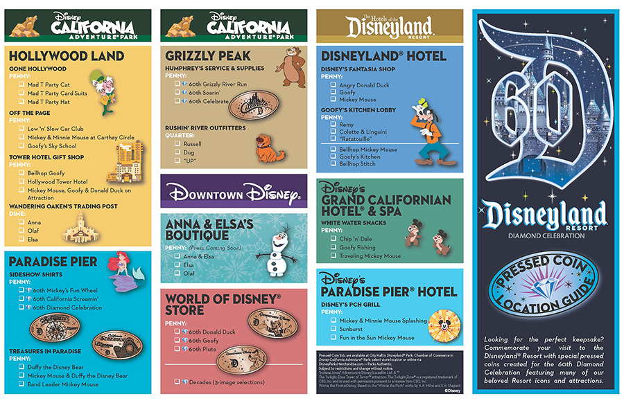New Pressed Coins Debut for the Disneyland Resort Diamond Celebration ...