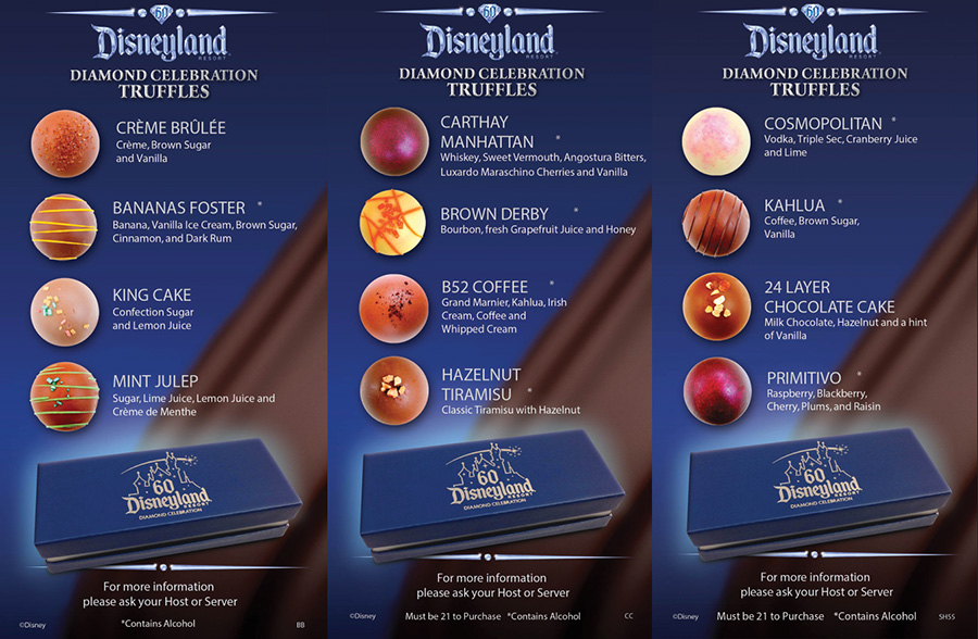 disneyland resort diamond celebration truffles debut at signature restaurants - Blue Restaurant 2015