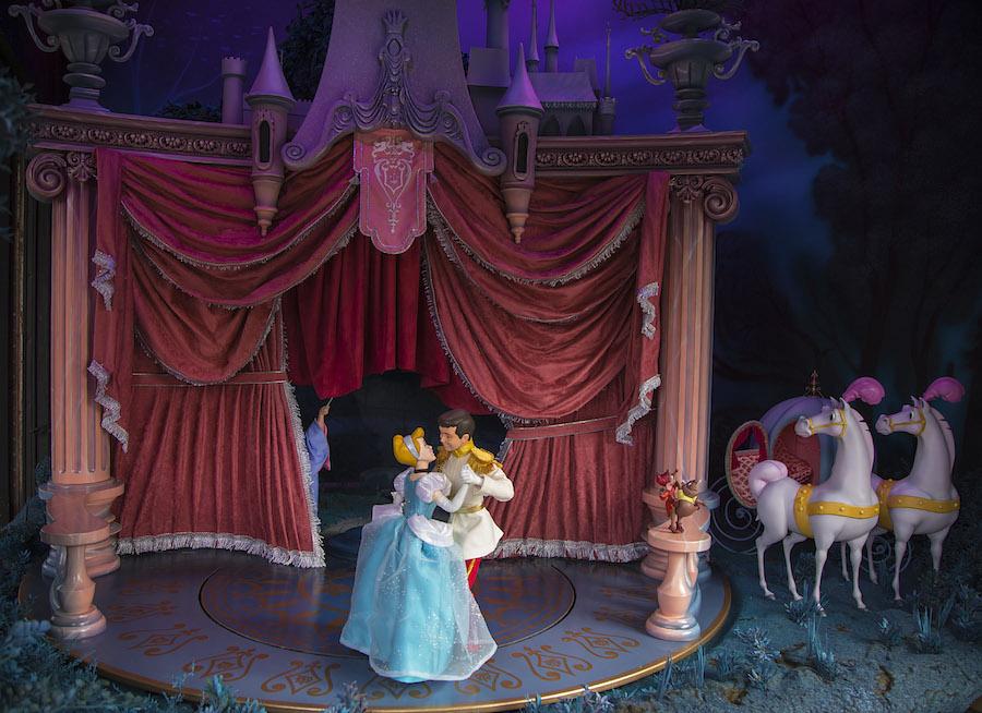 A Closer Look at New 'Cinderella' Main Street Enchanted Windows at Disneyland Park