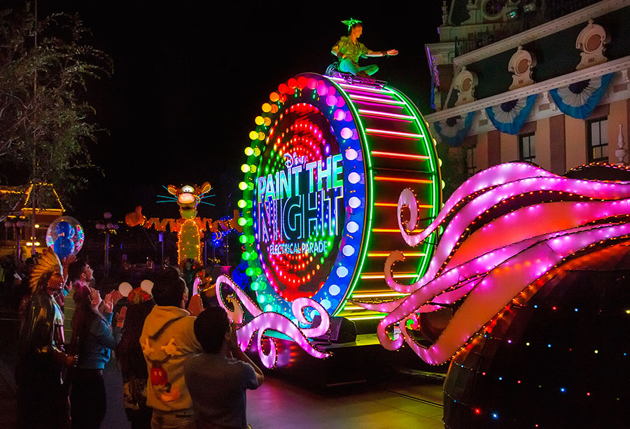 paint the night parade at disneyland park - When Does Disneyland Decorate For Halloween