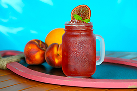 Peach and Blood Orange Tea at Disney's PCH Grill at Paradise Pier Hotel at Disneyland Resort