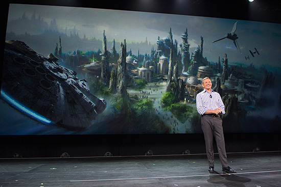 Walt Disney Company Chairman and CEO Bob Iger Announces Star Wars-Themed Lands Coming to Walt Disney World and Disneyland Resorts
