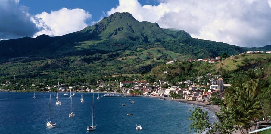 Martinique's Mount Pelee Volcano view