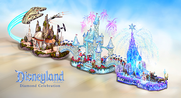 Disneyland Resort Diamond Celebration Float to Dazzle at