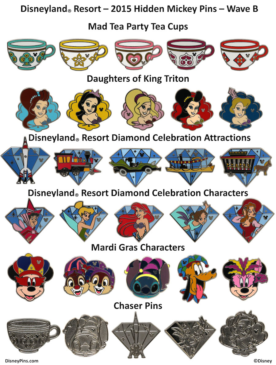 next wave of mickey pins releasing at disney parks in