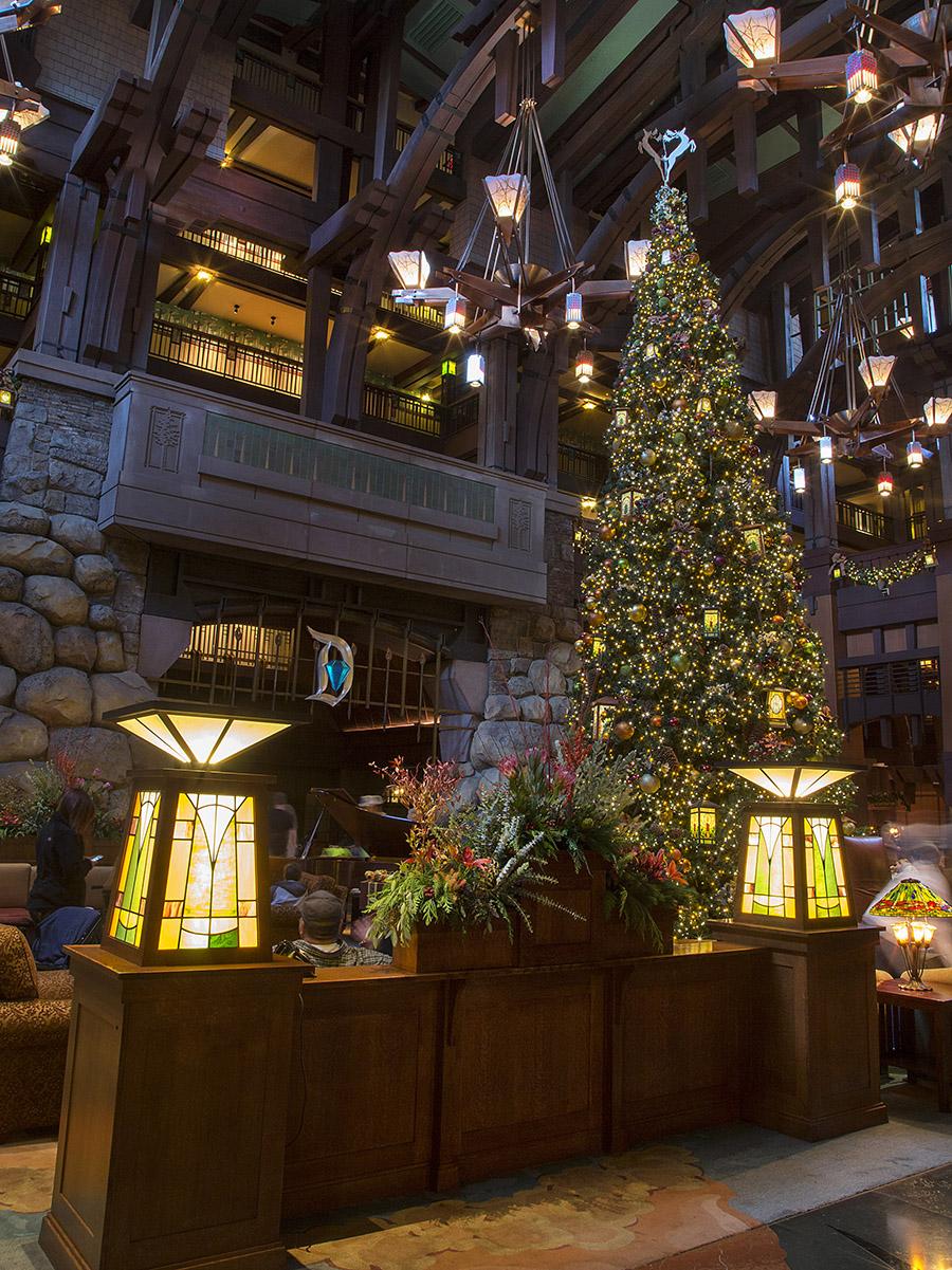 lobby at disneys grand californian hotel