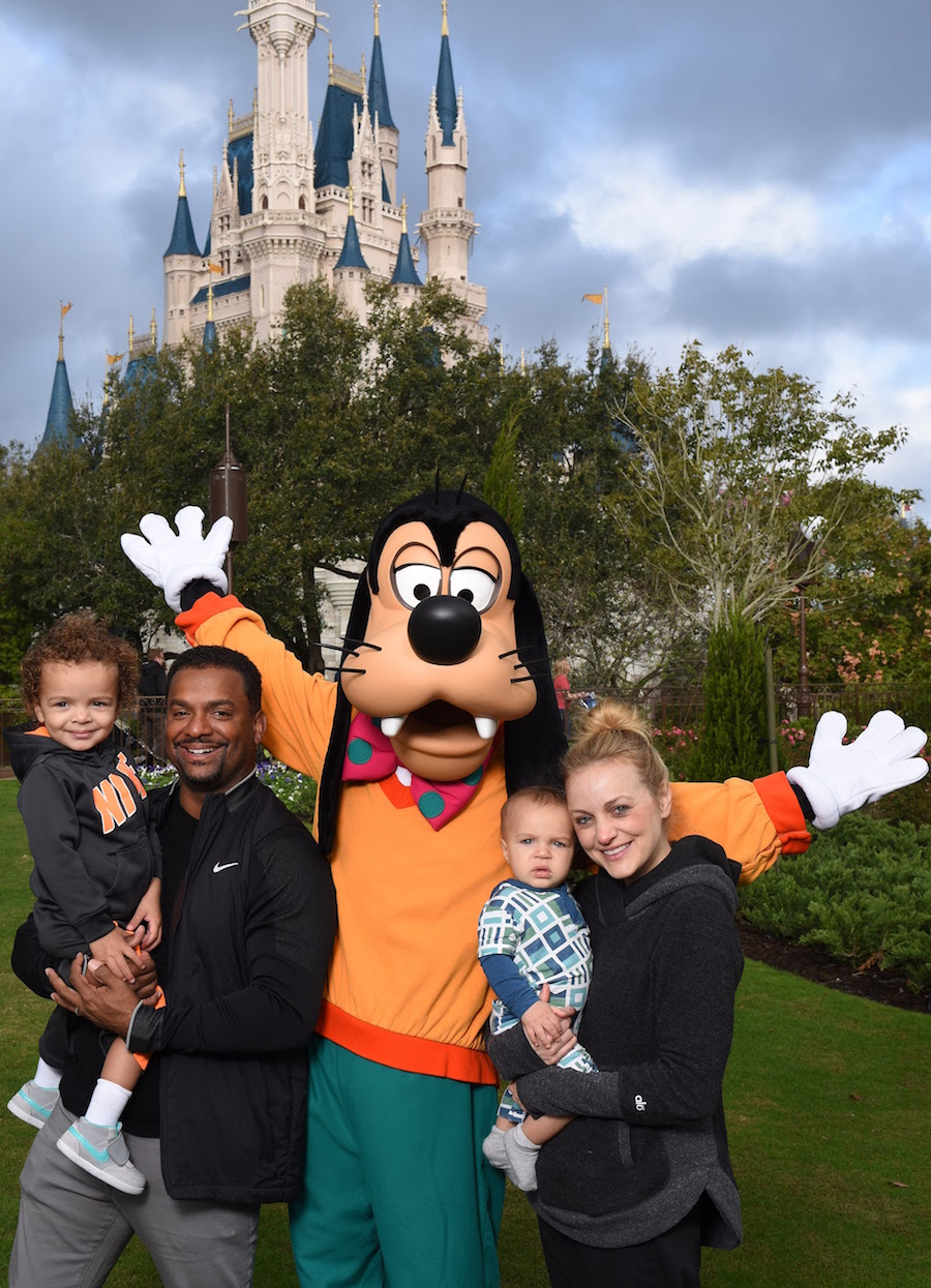 Alfonso Ribeiro and His Family Visit Goofy at Magic Kingdom Park