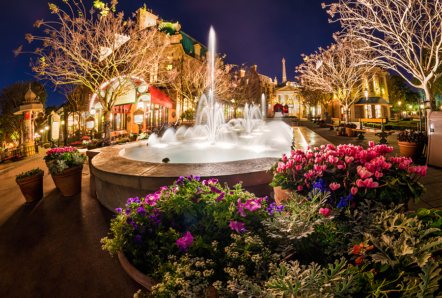 disney parks after dark fountains light up epcot s france pavilion disney parks blog. Black Bedroom Furniture Sets. Home Design Ideas