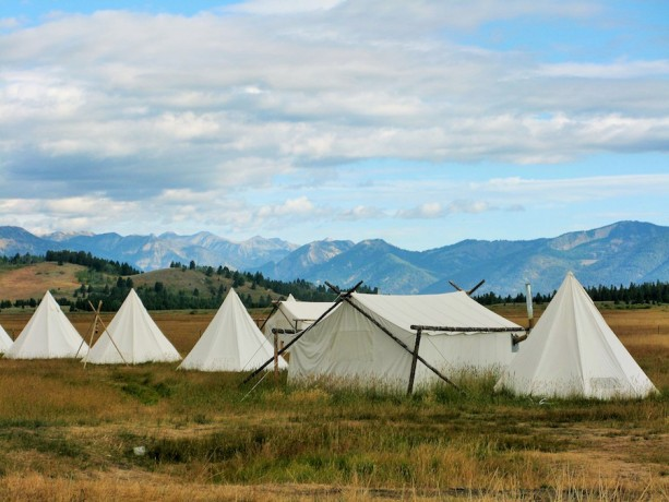 'Glamping' in Montana