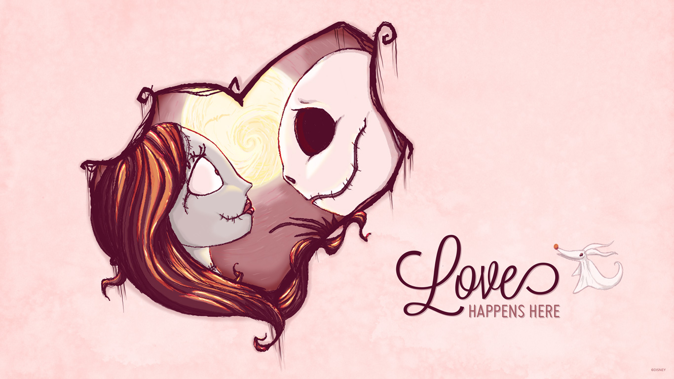 Jack & Sally Valentine's Day Wallpaper