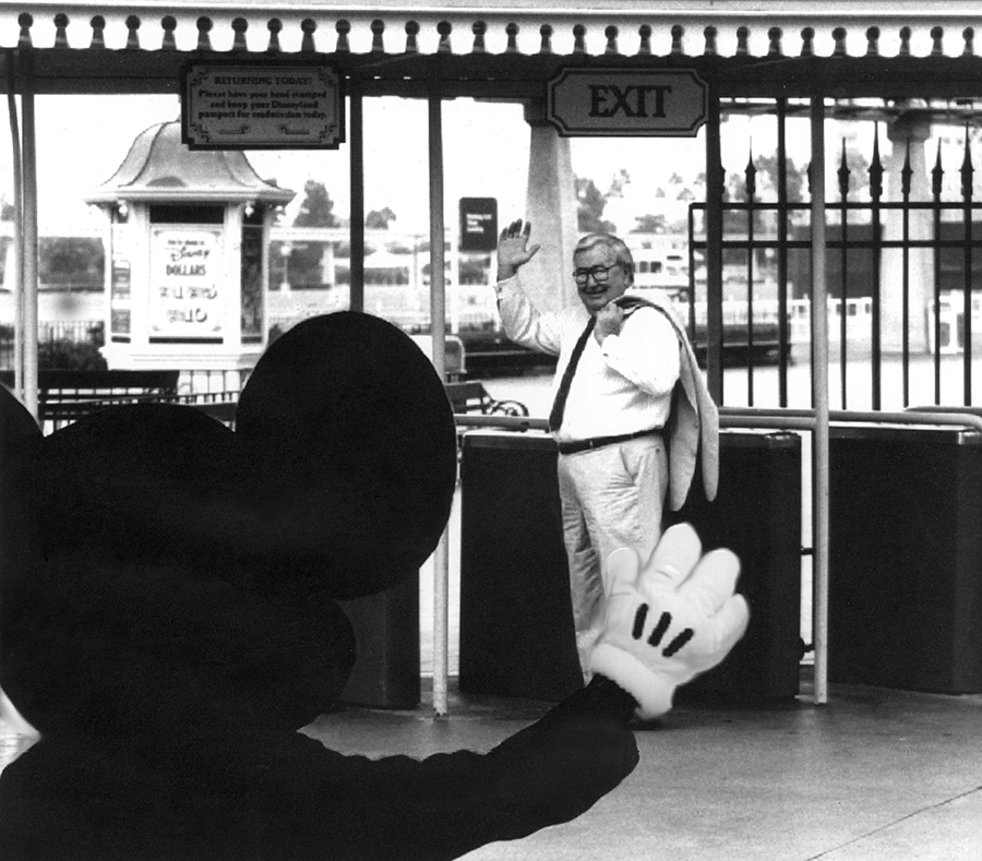 Caption: Jack Lindquist retired from Disneyland on November 18, 1993