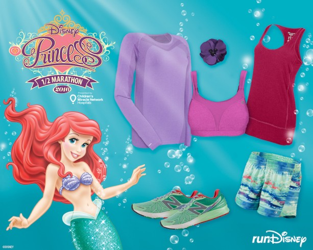 Ariel-Inspired Outfit from Champion and New Balance Perfect for the Disney Princess Half Marathon Weekend