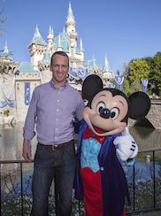 Peyton Manning Celebrates Super Bowl Win at Disneyland Resort