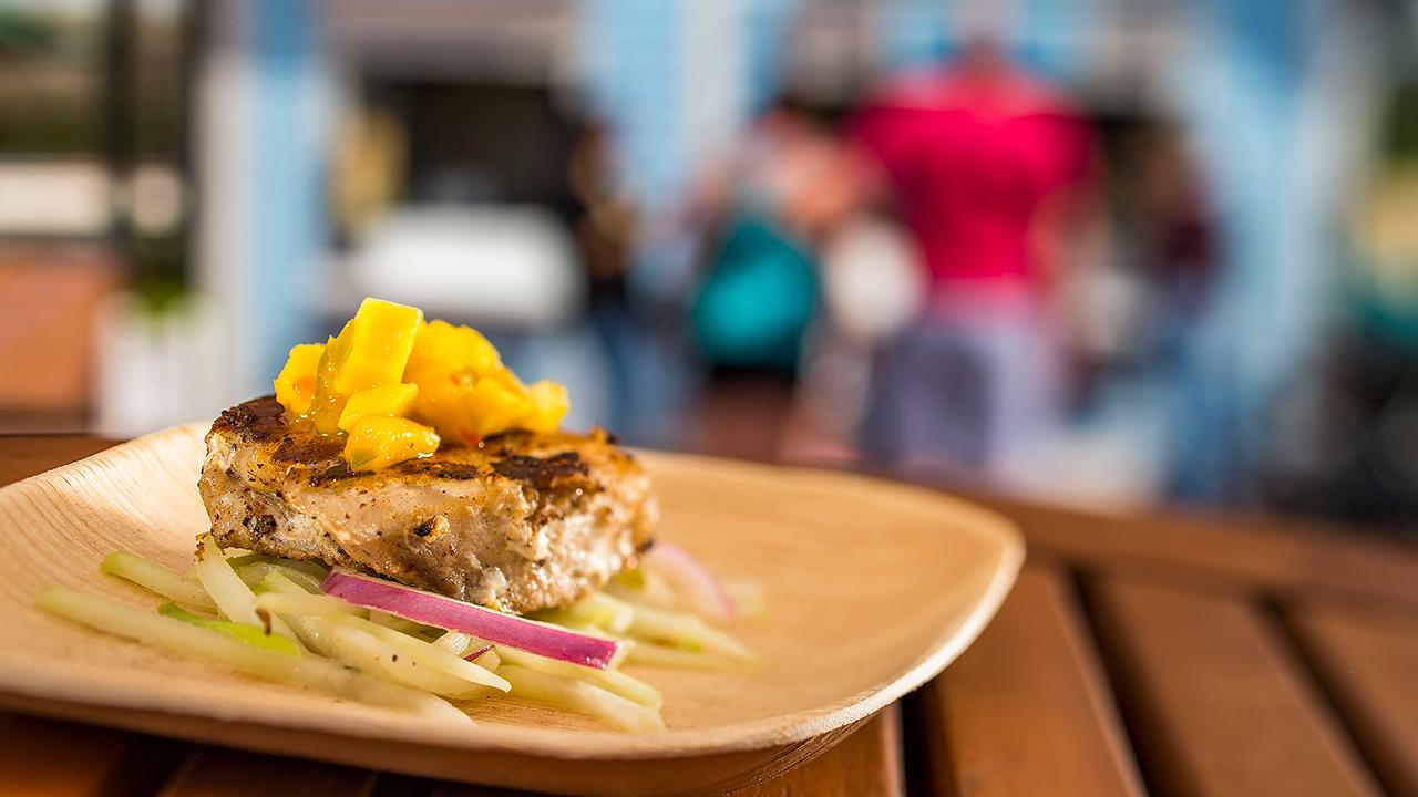 Chicken with Mango Salsa from La Isla Fresca Outdoor Kitchen at Walt Disney World Resort