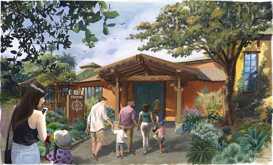 Finished Exterior Entrance at Tiffins at Disney's Animal Kingdom at Walt Disney World Resort