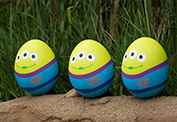 Toy Story's Green Aliens in the Disney Character Egg Hunt at Hong Kong Disneyland