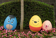 Winnie the Pooh, Eeyore and Piglet in the Disney Character Egg Hunt at Hong Kong Disneyland
