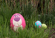 Lotso in the Disney Character Egg Hunt at Hong Kong Disneyland