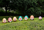 The Seven Dwarfs in the Disney Character Egg Hunt at Hong Kong Disneyland