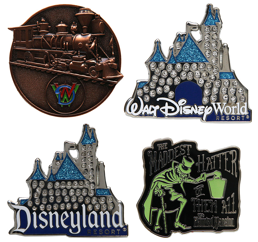 Disneyland Resort Diamond Celebration, Walt Disney World Railroad and the Hatbox Box Ghost Pins at Disneyland park