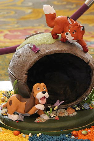 Fox and the Hound Easter Egg at Disney's Grand Foridian Resort & Spa at Walt Disney World