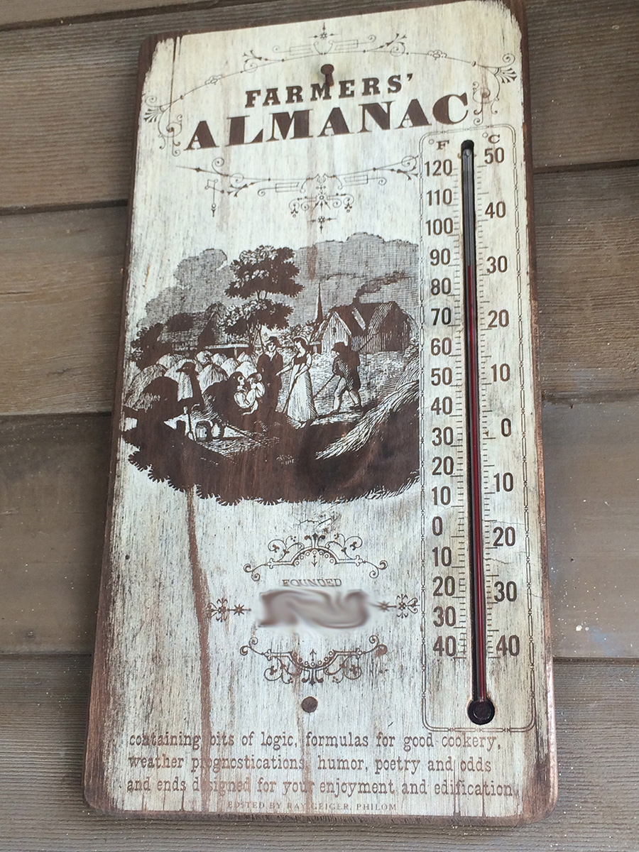 Farmers' Almanac at Tom Sawyer Island at Magic Kingdom Park at Walt Disney World